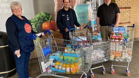 Tins of food, snacks, sweets and drinks worth around £250 were bought for St Ives Foodbank thanks to