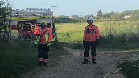 Firefighters were called to the reserve near Pocket Park on Friday evening