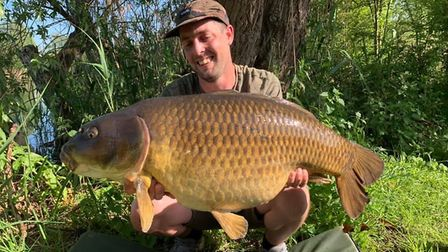 Harry Green with a 34lb common carp