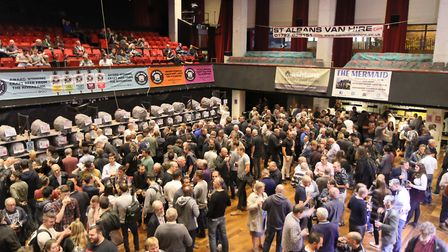 The St Albans Beer & Cider Festival will return to The Alban Arena in 2021. Picture: CAMRA