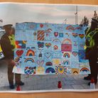 Collage that Stepping Stones Nursery has made in St Ives PICTURE: Cambri