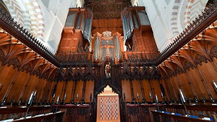 St Albans Cathedral organ. Picture: Chris Christodoulou
