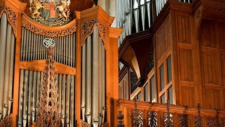 The organ at St Albans Cathedral. Picture: Chris Christodoulou