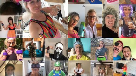 Gym-goers swapped traditional workout wear for fancy dress to raise money for NHS Chairities Togethe