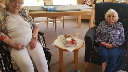 Residents got in the Wimbledon spirit with bowls of strawberries and cream. Picture: Margaret House