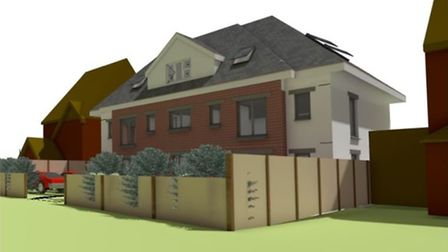 A 3D image of what the new flats will have looked like in Hatfield Road if approved. Picture: Cedarw