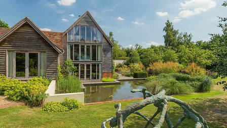 The Barn House, Three Houses Lane, Codicote, has a guide price of £4.25m. Picture: Savills