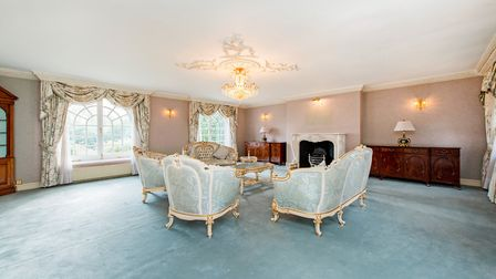 The spacious drawing room at Dutch Lodge. Picture: Savills