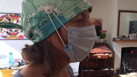 Salisbury Avenue Sewing Circle has been making hats, scrubs and other PPE for the NHS. The finished