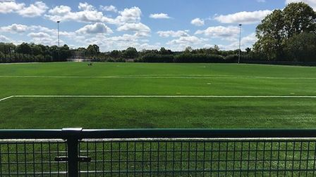 The 3G pitch at the Oaklands College redevelopment.