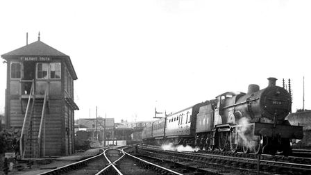 St Albans South Signal Box in 1946.