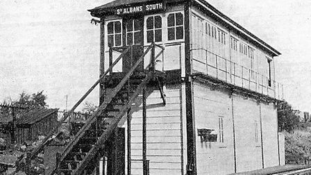St Albans South Signal Box in 1950.
