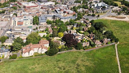 Huntingdon from the air
