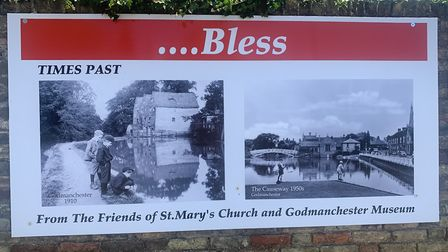 'God Bless Godmanchester' posters displayed in the community PICTURE: Mike Brown Archie