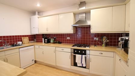 The kitchen opens onto the main reception area. Picture: Hamptons