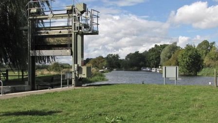 Police warning after people spotted swimming at Houghton Lock. Picture: CAMBS POLICE