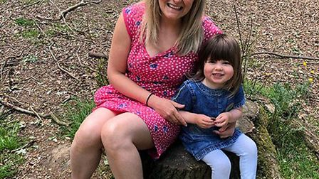 Liz Binks and her daughter Amelie from St Albans. Picture: Supplied