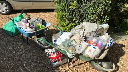 Conservators of Therfield Heath are urging visitors to take their litter home with them after collec
