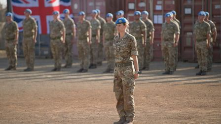 Captain Sophie Piper from Huntingdon who is a UN peacekeeper. Picture: MOD