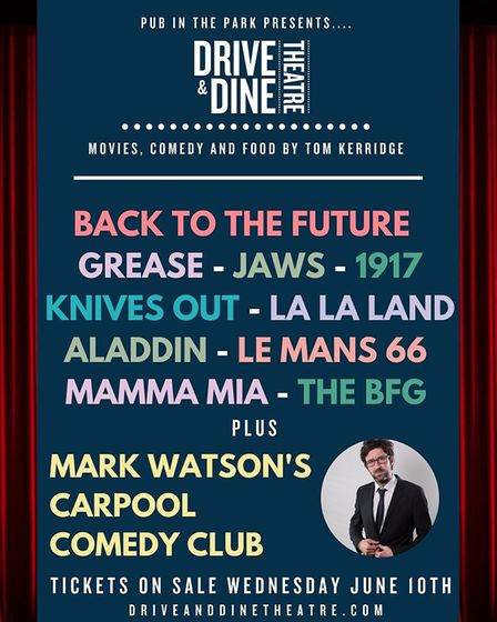 Drive & Dine Theatre is a new experience from the creators of the Pub in the Park Festival Tour.