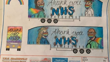 Rose's winning design, which will now be brought to life on a 45ft TES MacDonald lorry trailer. Pict