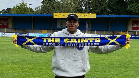St Albans City have signed striker Joseph Chidyausiku from Chelmsford City. Picture: ST ALBANS CITY