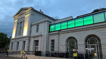 St Albans Museum + Gallery has belatedly illuminated in support of NHS staff and keyworkers.