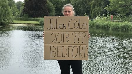 Campaigners marched to the Riverside Park in St Neots