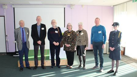 Computer Friendly trustees pictured earlier this year after being shortlisted for the Queen's Award