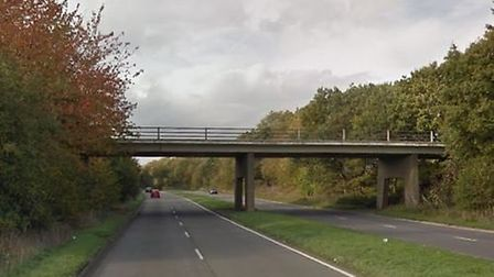 A man in his 40s has died after a crash on the A1081 London Coloney bypass, where his van collided w