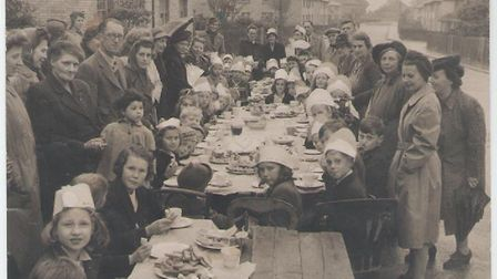 Alan Butler, from St Neots, sent has this photograph of a victory tea in Avenue Road in May, 1945.