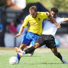 St Albans City V Hungerford Town - Ben Herd in action for St Albans City. Picture: Karyn Haddon