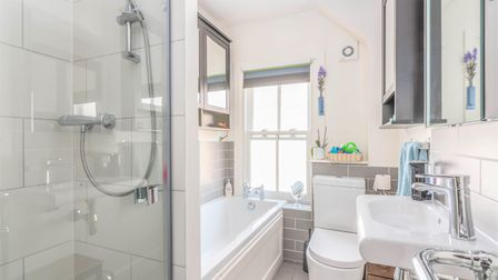 The modern family bathroom is on the first floor. Picture: Putterills