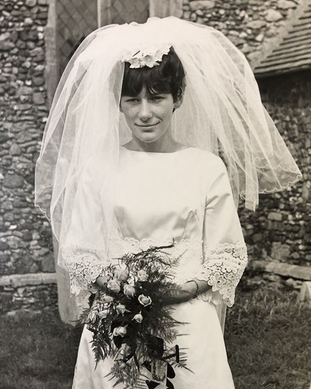 Stuart's mother Jane Miller on her wedding day. Picture: MACMILLAN