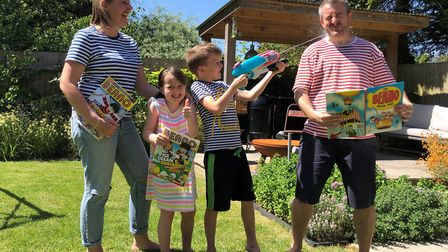 The King family, from St Albans, have been shortlisted in Beano's funniest family competition. Pictu