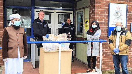 St Ives mosque raises more than £3,000 for community during lockdown. Picture: CAMBS POLICE