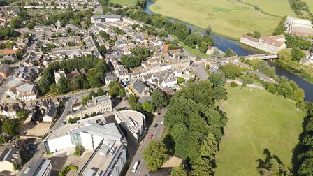 A view of Huntingdon from the air