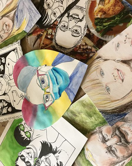 A selections of some of the portraits created