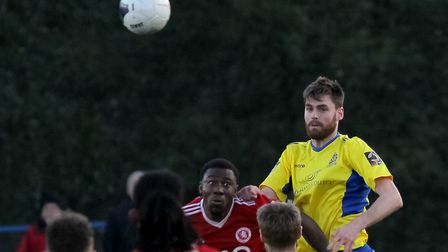 James Kaloczi in action for St Albans City against Welling United. Picture: JIM STANDEN
