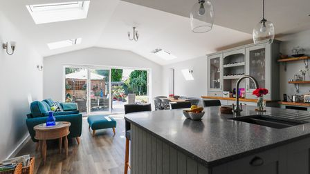 Create an open plan living space with a new home extension. Picture: Binney and Sims Design