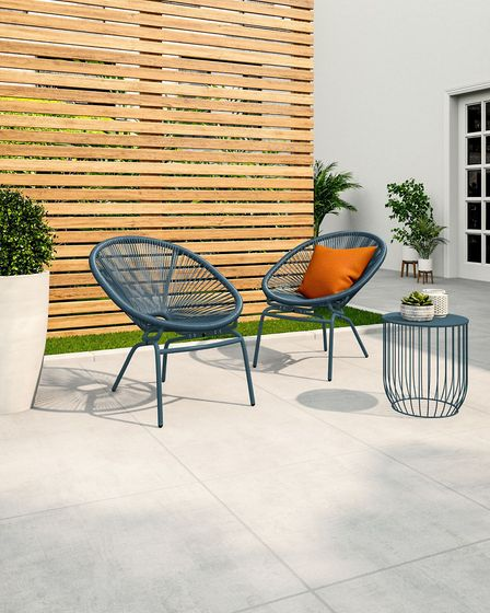 13. Loft Lois Set of Two Garden Chairs in Teal, £119, Marks & Spencer. Picture: PA Photo/Marks & Spe