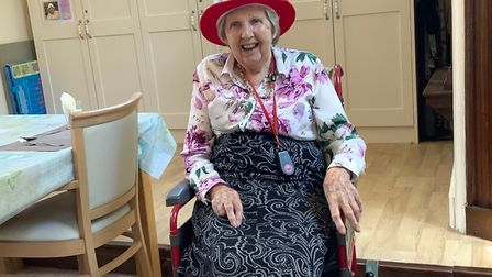Eileen Pope celebrated her 100th birthday at Verulam House in St Albans. Picture: Verulam House