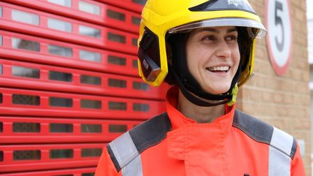 """Crew Commander Agata """"Aggie"""" Wieczorek was awarded runner up in the 'Firefighter Rising Star' PICTU"""