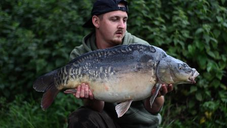 Harry Stirling landed a 24lb mirror carp at East Delph Lakes