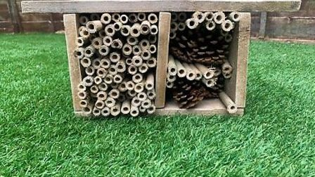Justin, age 14, made a bug hotel for the Sustainable St Albans competition. Picture: Supplied