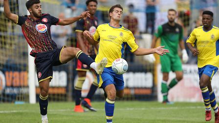Michael Clark in action for St Albans City in a pre-season friendly with Stevenage in 2019. Picture: