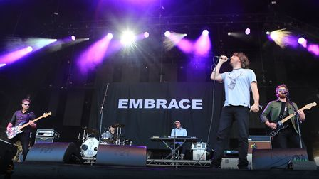 Embrace at Cool Britannia Festival 2018 at Knebworth. The Yorkshire group will play Utilita Live Fro