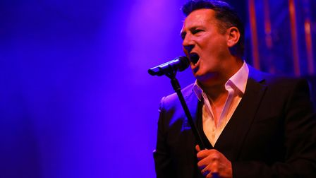 Tony Hadley on stage at the Meraki Festival in St Albans. The former Spandau Ballet frontman will pl