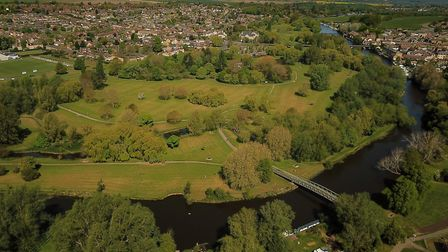 CCTV cameras to be installed in Riverside Park St Neots park to catch people littering. Picture: HDC