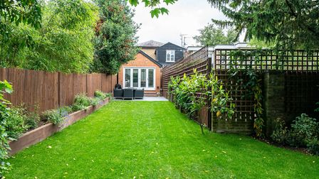 There is a private 80ft garden to the rear of the property. Picture: Paul Barker Estate Agents